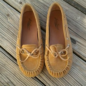 Women's Tan Lucky Brand Moccasins Size 6